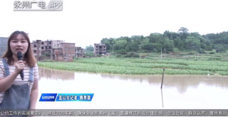 藍山:暴雨致河水陡漲 農田被淹房屋進水