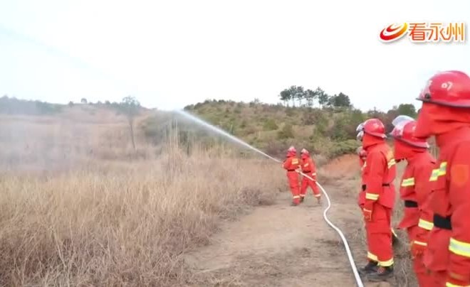 """""""人民至上、生命至上"""" 湖南省舉行2021年森林火災應急演練"""