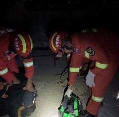 20210818寧遠:13歲女孩因家庭瑣事欲跳樓 消防緊急出動救人