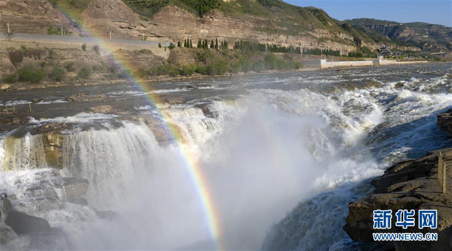 (美麗中國)(3)黃河壺口瀑布彩虹美不勝收