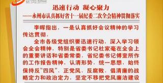 迅速行動 凝心聚力——永州市認真抓好省十一屆紀委二次全會精神貫徹落實