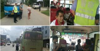 祁阳交警大队连续查处两起农村班线客运车辆超员交通违法行为