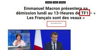 法國總統馬克龍辭職了?假新聞!
