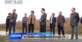 李旦梅調研永州市農科園整體招商項目包裝工作