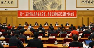 湖南代表團舉行第九次全體會議 杜家毫主持并講話