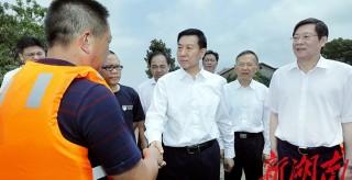王勇在湖南考察指导防汛抗洪抢险救灾工作