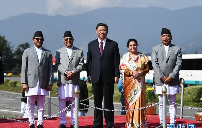 习近平结束同印度总理第二次非正式会晤和对尼泊尔国事访问回到北京