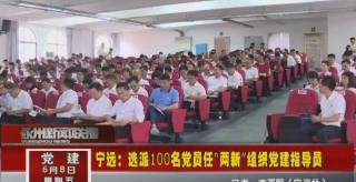 """宁远:选派100名党员任""""两新""""组织党建指导员"""
