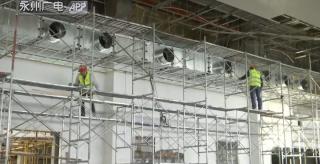 (項目建設)永州火車站提質改造:站房主樓封頂  部分扶梯已投入使用