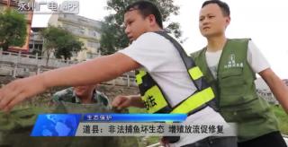 道县:非法捕鱼坏生态 增殖放流促修复百年荣光今再现